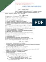 QUESTION BANK FOR COMPUTER PROGRAMMING REGULATION 2013