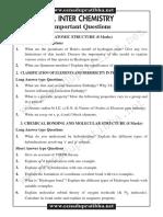 Jrchemistry Important Questions