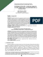 FACTORES DETERMINANTES DEL COMPORTAMIENTO ÉTICO/NO ÉTICO DEL EMPLEADO