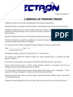 Enzymatic Removal of Peroxide Traces