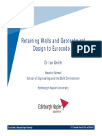 Retaining Walls and Geotechnical Design to Eurocode 7 Summary