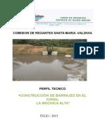 construccion de Barrajes Santa Maria Baja