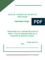 Inventario de Infraestructura de Riego Mvch