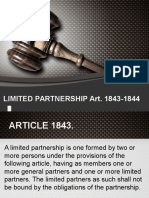 [Document] Limited Partnership ART1843-1844 K