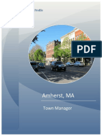 Amherst Profile For New Town Manager