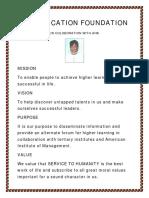 Fiji Education Foundation, Fijisun USA, American Institute of Management and Dr. H. Koya