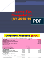 3B Income Tax Computation Companies AY 2015-16