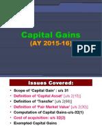 11 Capital Gains AY 2015-16