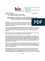 Ohio First Zika Virus Case Release