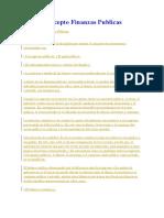 Concepto Finanzas Publicas