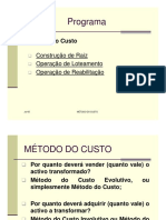 Power Point - Método Do Custo