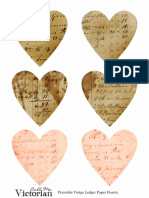 Printable Ledger Paper Hearts