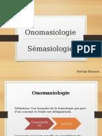 Onomasiologie Et Semasiologie