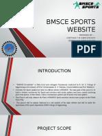 Bmsce Sports Website