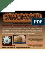AMC February 10th Fundraiser Poster
