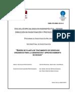 08- Diseño de Planta de Tratamiento de Desechos Orgánicos Para La Generación y Aprovechamiento De