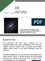Tipos de Supernovas