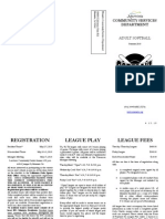 Softball Summer 2010 Packet