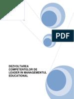 Dezvoltarea Competentelor de Leader in Managementul Educational-suport de Curs