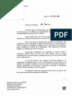Courrier de François Hollande