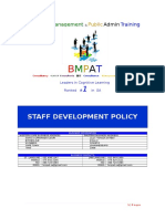 13.Staff Development Policies