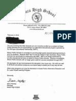 iSchool student letters/Nov. student count/14-15 grad. list