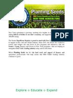 """Planting Seeds"" 2016 Senate Farm Agenda"