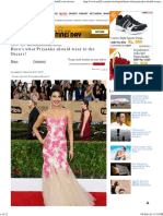 Here's What Priyanka Should Wear to the Oscars! - Rediff