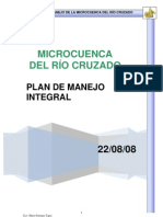 PLAN DE MANEJO DE LA MICROCUENCA DEL RÍO CRUZADO