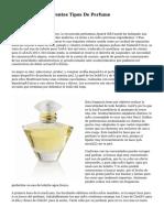 Descubre Los Diferentes Tipos De Perfume