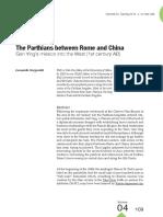 The Parthians between Rome and China - Leonardo Gregoratti