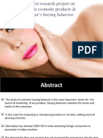 A Market Research Program on Skin Care Industry