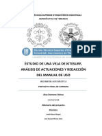 Estudio de Una Vela de Kitesurf, An Lisis de Actuaciones y Redacci n Del Manual de Uso (Memoria)