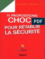11 propositions choc pour rétablir la sécurité