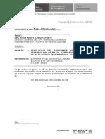 N °198- Oficio, LEVANTAR OBS. DESEMBOLSO-MARISCAL LUZURIAGGA