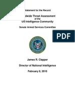 DNI Threat Assessment 2016