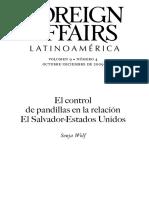 Pandillas en El Salvador y Centro America