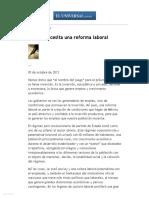 El Universal - Opinion - México Necesita Una Reforma Laboral
