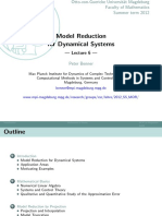 Model Reduction for Dynamical Systems 6