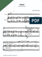 Stravinsky Violin Piano Ballad