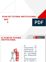 Plan de Tutoria Institucional