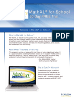 Instructions for Accessing MathXL 30 Day Trial