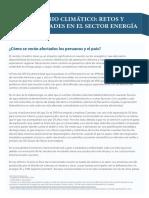 El Cambio Climático- Retos y Oportunidades en El Sector Energía