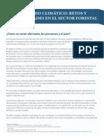 El Cambio Climático- Retos y Oportunidades en El Sector Forestal