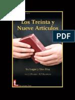 J.I Packer - Los Treinta Y Nueve Articulos Su Lugar y Su Uso Hoy.