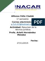 El Resumen de La Tecnica Juridica.
