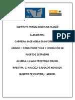Formas de Operación de los puertos estándar.