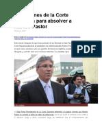 Las Razones de La Corte Suprema Para Absolver a Aurelio Pastor