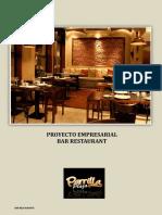proyecto empresarial bar