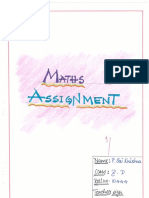 Mathes Notes for Class x